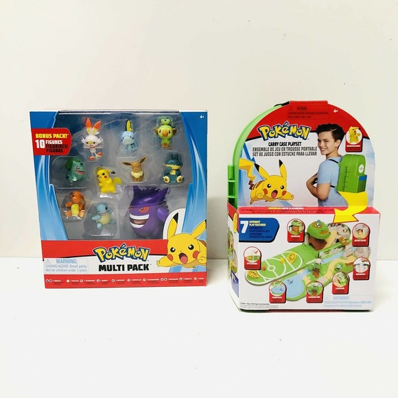 POKEMON CARRYING CASE PLAYSET BACKPACK W/ FIGURES